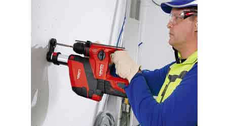 Cordless Rotary Hammer Includes Dust Removal System: Hilti Inc.