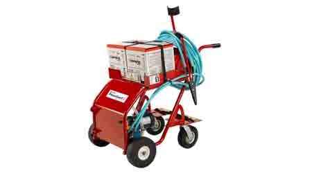 Cart Assists Managers in Applying Roofing Insulation Adhesive: OMG Roofing Products