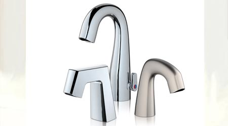 Sensor Faucets Feature Above Deck User Controlled Temperature Mixing: Chicago Faucets