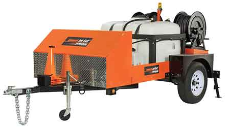 Trailer Jetter Clears Blockages in Large Drain Lines: General Pipe Cleaners