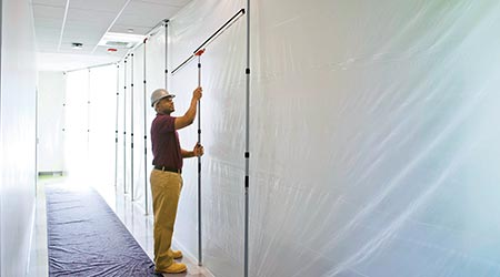 Dust-Barrier System Creates Seal for Ceilings, Floors and Walls: ZipWall