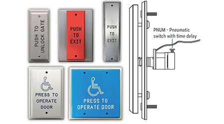 Push Plates Assist with Door Control Release: DeltrexUSA