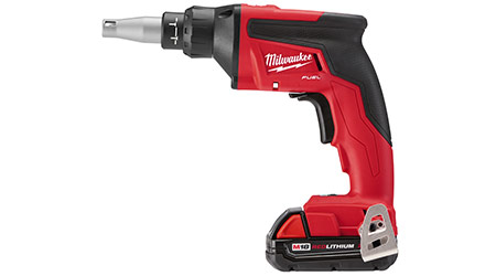 Drywall Screw Gun Increases Power, Run Time: Milwaukee Tool