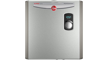 Rheem Classic Series Tankless Electric Water Heaters Manufactured to Improve Hot Water Performance: Rheem