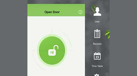 Fingerprint door lock: ZKAccess