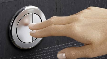 Pneumatic flush buttons: The Geberit Group