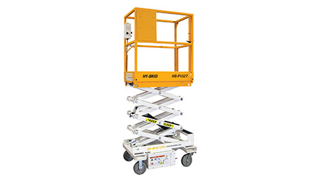 Low-level scissor lift: Hy-Brid Lifts