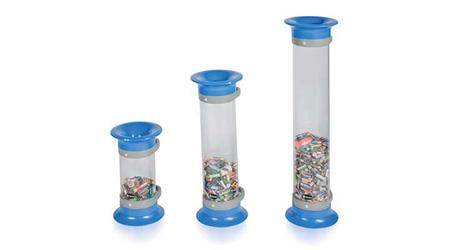 Battery recycling bins