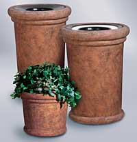 Outdoor Planters and Trash Cans: United Receptacle