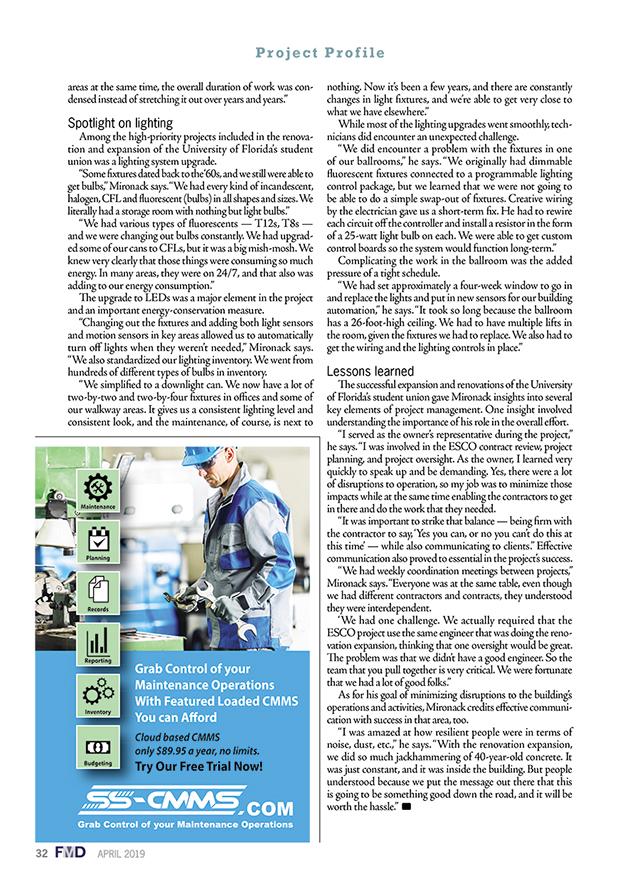 Facility Maintenance Decisions Magazine Issue April 2019