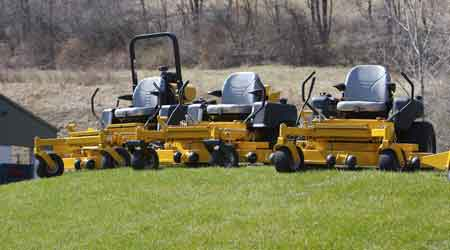 Attachments, Power Sources, Stand-On Models Maximize Mower Versatility