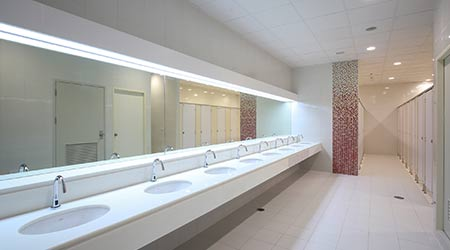 New Thinking In Restroom Designs Keeps Office Tenants