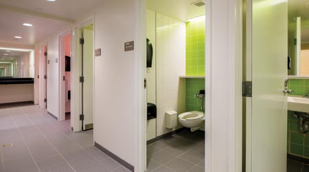 single-occupancy, gender-neutral restrooms gaining
