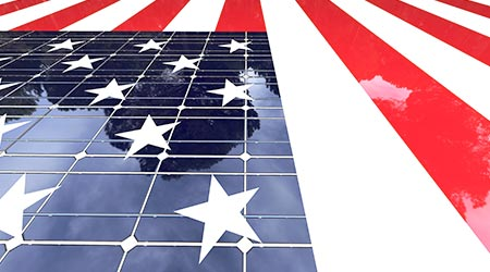 flag solar panels energy efficiency