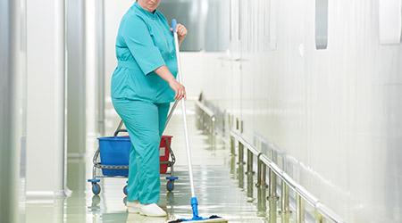 housekeeper in hospital