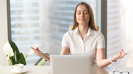 Health and wellness daylight meditation