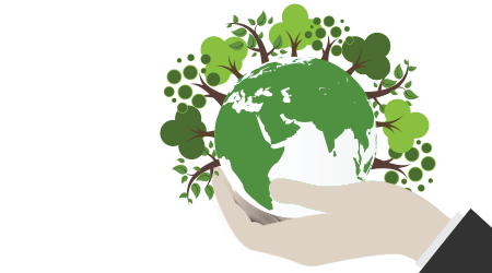 Save Earth Planet World Concept. World environment day concept. ecology eco friendly concept. Green natural leaf and tree on earth globe.