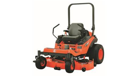Orange ride-on zero-run mower.