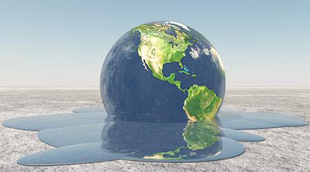 climate change earth melting
