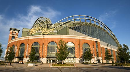 MILWAUKEE, WI - JUL 15: Miller Park is a ballpark located in Milwaukee, Wisconsin on Jul 15, 2009.