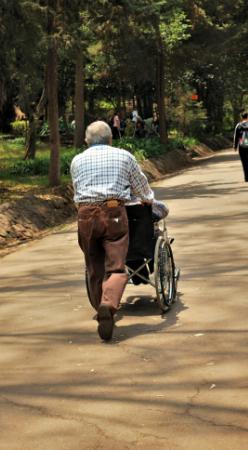 Sidewalk wheelchair