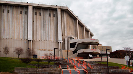 Carrier Dome on the Syracuse University campus