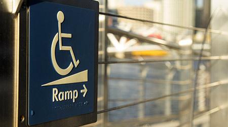 wheelchair ramp in building