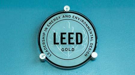 LEED plaque