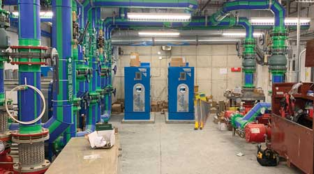 plastic piping mechanical room