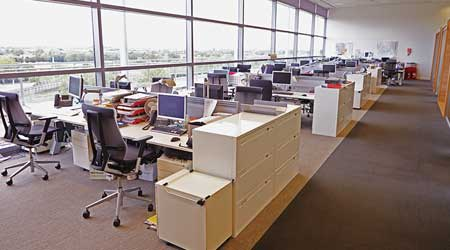 open office with daylighting