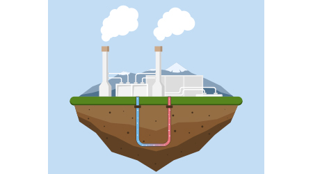 Geothermal energy concept.