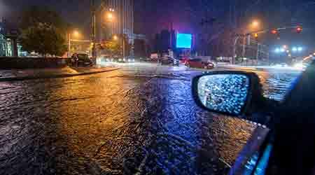 flooding at night