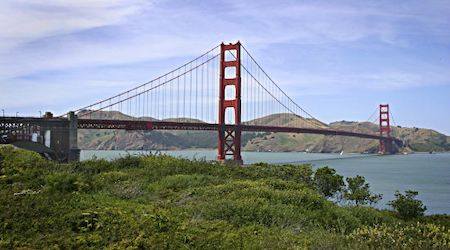 Golden Gate Bridge as viewed from Golden Gate National Recreation Area
