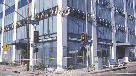 A building destroyed by the 1994 Northridge earthquake