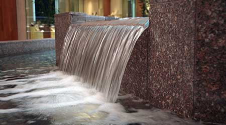 waterfall in building