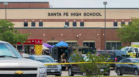 Active Crime Scene Following A Shooting In Santa Fe High School
