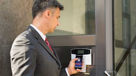 unlocking door with smart phone