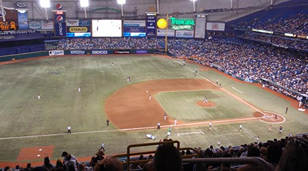 Tropicana Field sports stadium