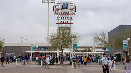 Maryvale Stadium, the spring training home of the Milwaukee Brewers