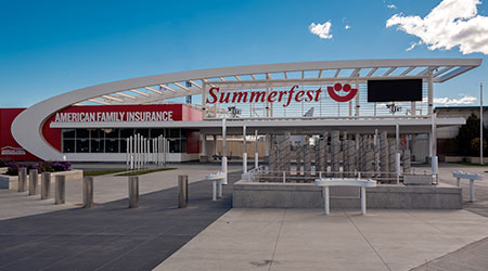 the main gate of Summerfest