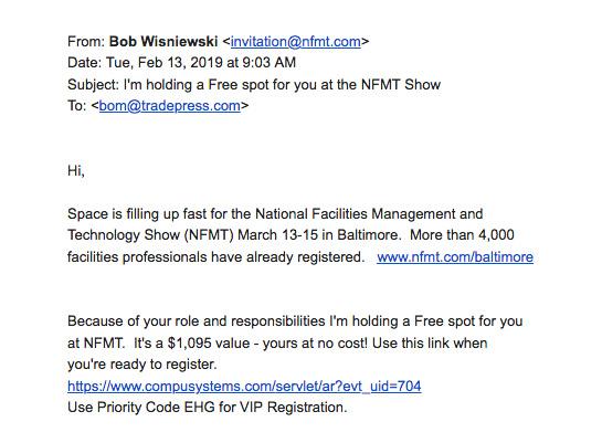 NFMT Email Screenshot
