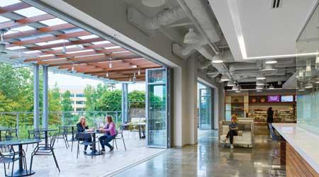 Indoor and outdoor spaces office