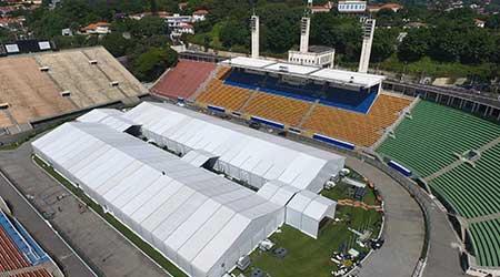 stadium alternate care facility