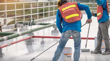 roof coatings application