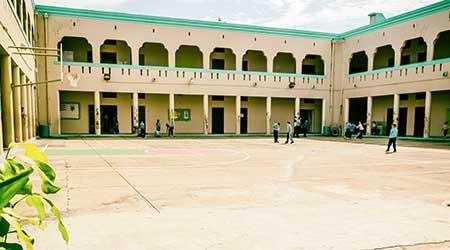 Courtyard of Theodore Roosevelt Elementary School in Mayaguez, PR