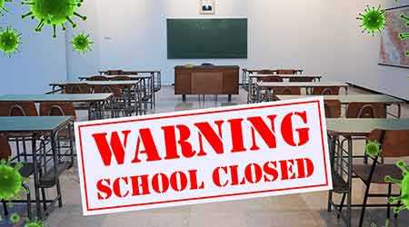 school closed, warning, coronavirus, COVID-19