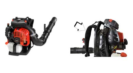 Recalled ECHO PB-8010 blower and shoulder straps