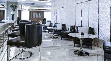 Empty hotel lobby interior