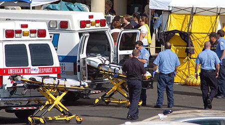 Evacuating hospital