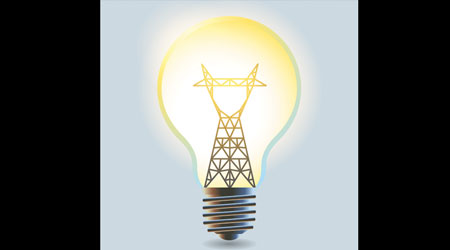 lightbulb as symbol of microgrid